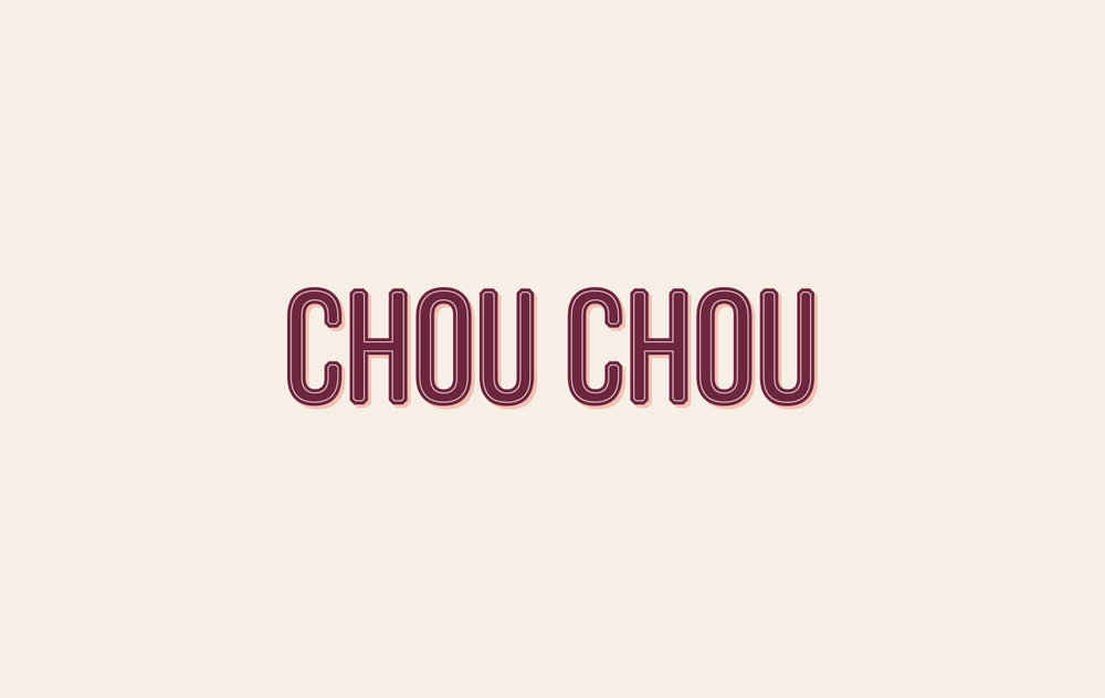 Chou Chou (2017) // Designed for  Paperwhite Studio  French éclair patisserie in NYC