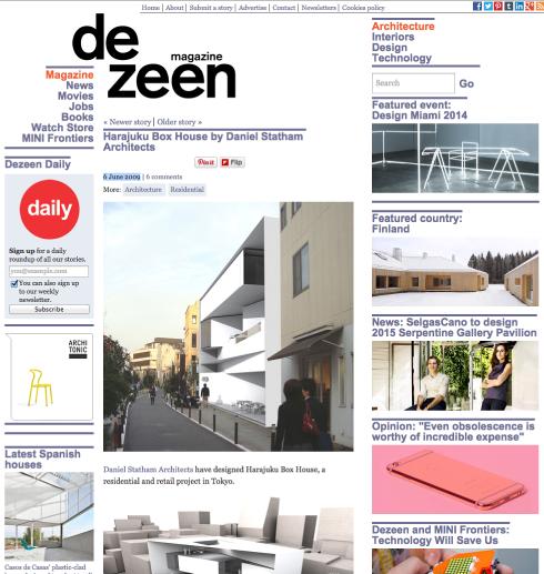 DEZEEN - June 2009