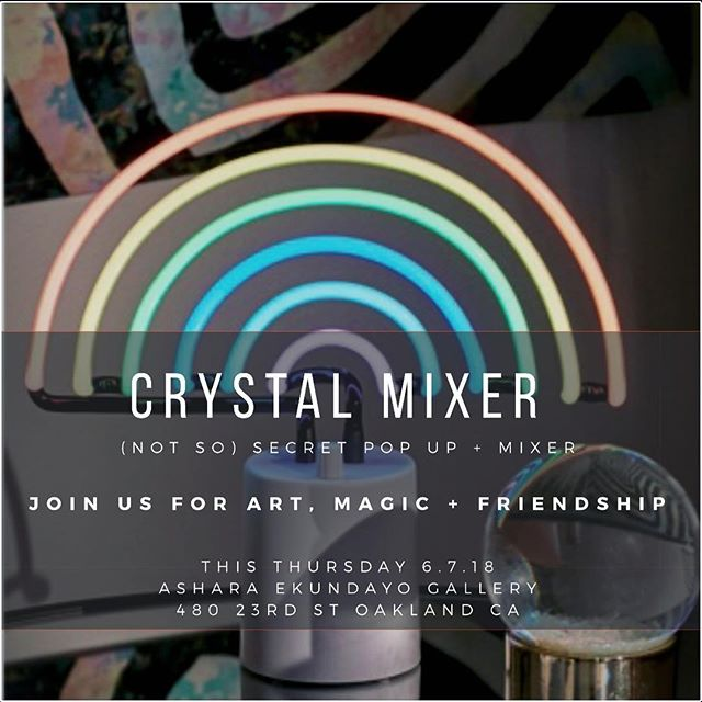 MINERALIA: A Crystal Mixer. Woo hoo join me this Thursday @asharaekundayogallery for an intimate 2nd look at my installation Familiar Other and come hang out with other magic makers, creative creatures and moonbabes while we talk all things artsy and magical. Plus there will be a crystal petting zoo and you can snag up some crystals and art for yourself! Let me know if you can attend;)