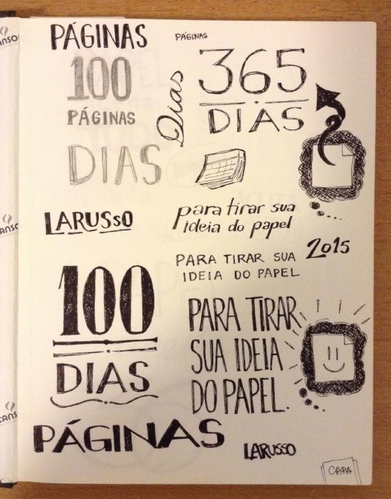 Os primeiros rascunhos. 100 páginas? 365 dias?