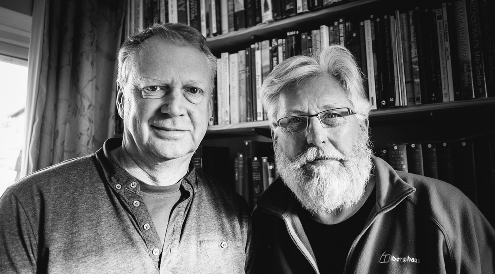 Photographers and longtime friends, Tim Collier and Emyr Young. Image by Brian Carroll