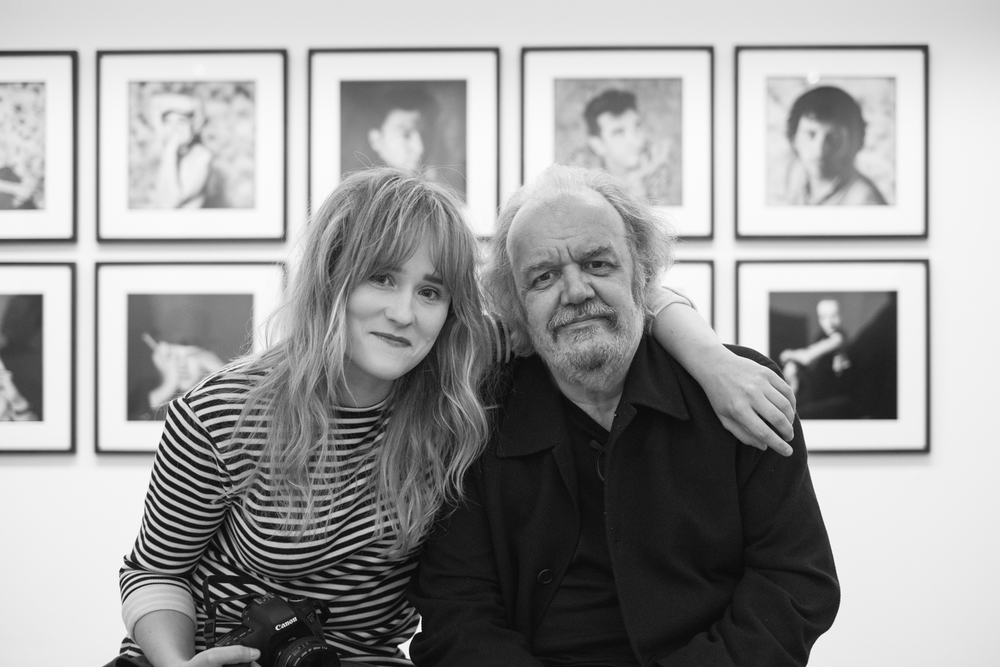Rebecca with friend and mentor Chalkie Davies in Cardiff. © Brian Carroll