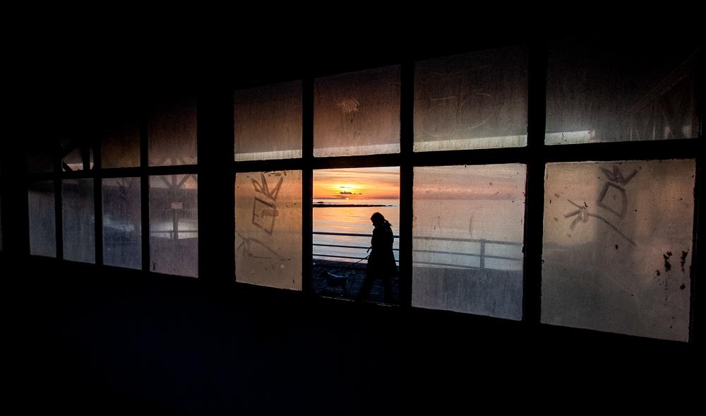 Winter Sunset, Aberystwyth