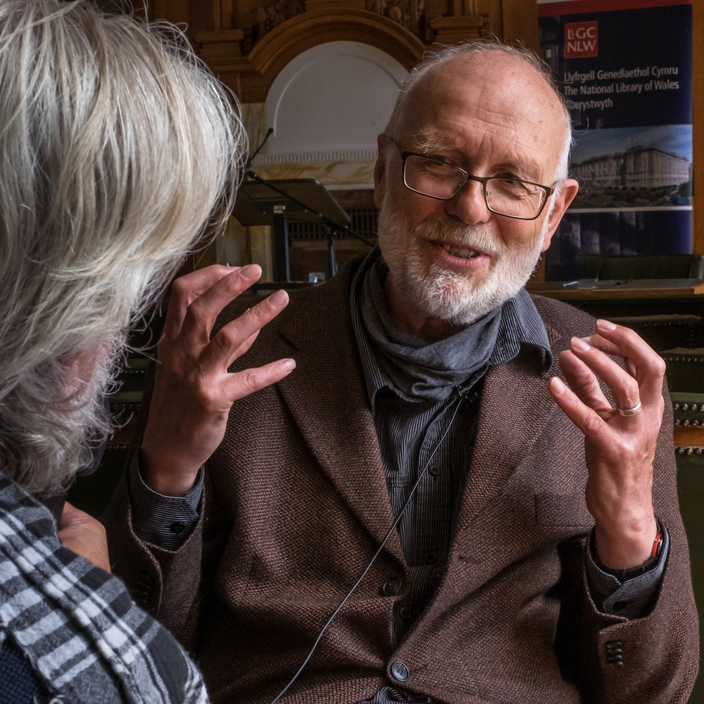 Alan Hale speaking with Ffoton Wales at the National Library of Wales, Aberystwyth Image © Glyn Shakeshaft