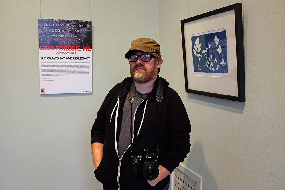 Photographer Jon Pountney at his launch event.