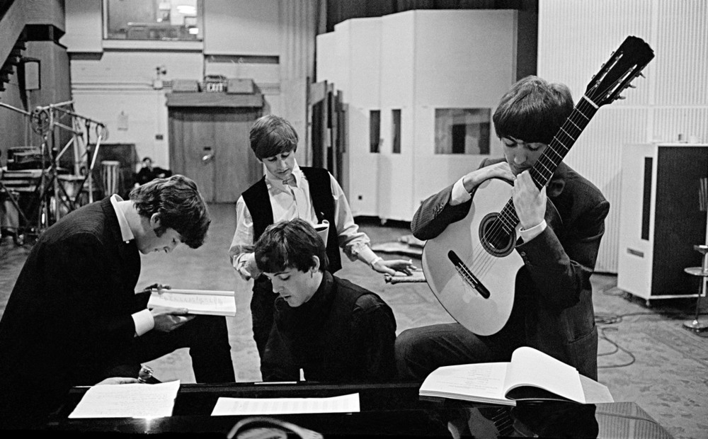 The BEATLES in Abbey Road Studios