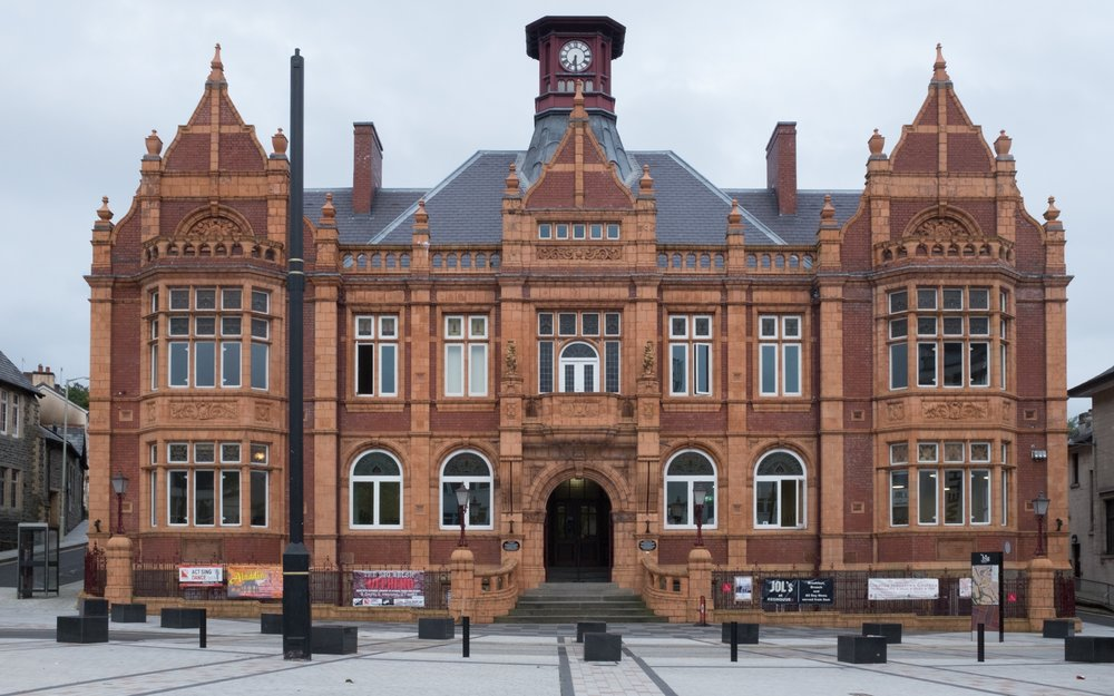 Redhouse, Merthyr Tydfil - venue for Chuck Rapoport's Digital exhibition on Aberfan