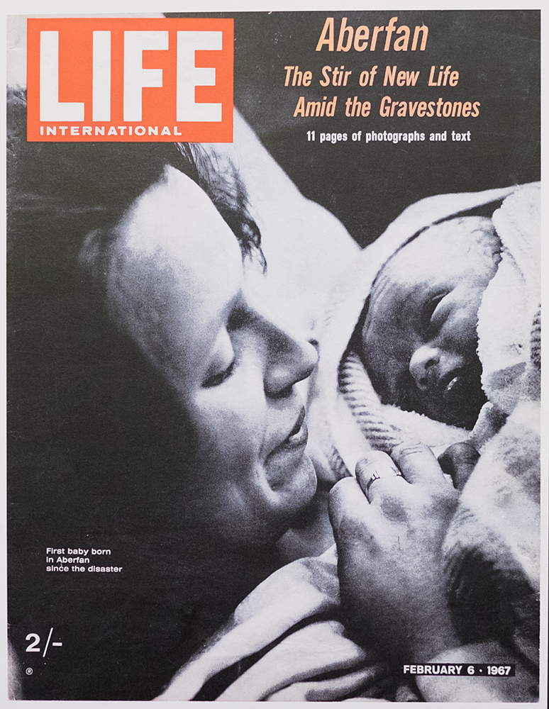 The issue of LIFE Magazine that carried Chuck's Aberfan photography on it's cover and 11 pages inside