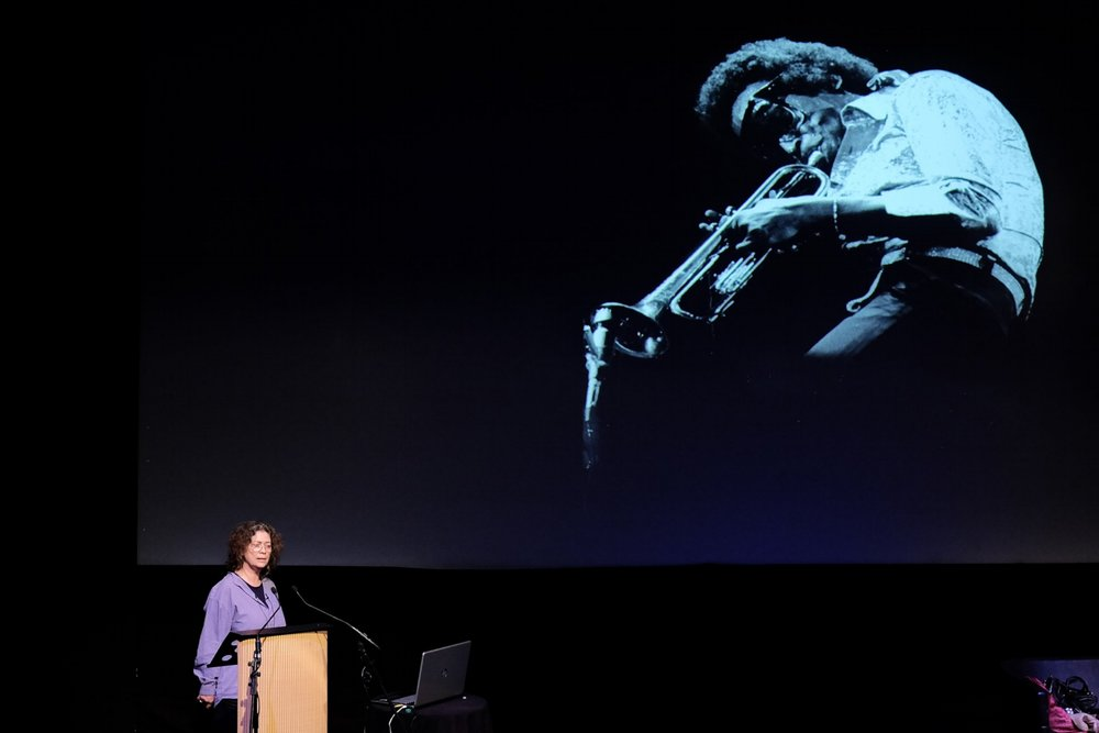 Jill Furmanovsky speaking at the 2016 EYE International Photography Festival