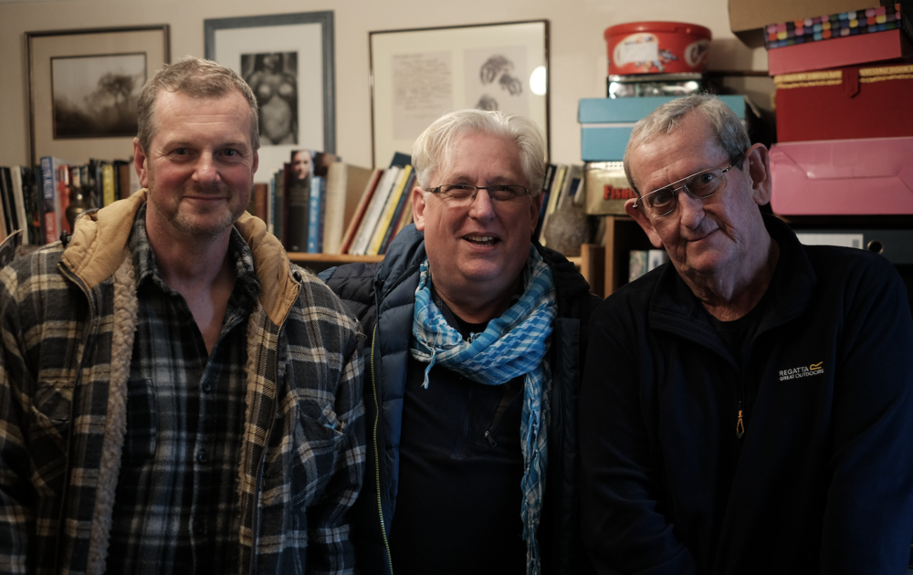 Photographers Roger Tiley, Emyr Young and Bernard Mitchell