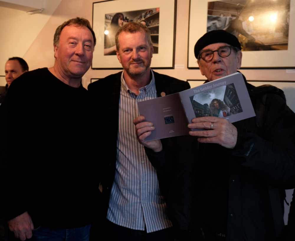 David Hurn (right) with former students and close friends Roger Tiley and Glenn Edwards
