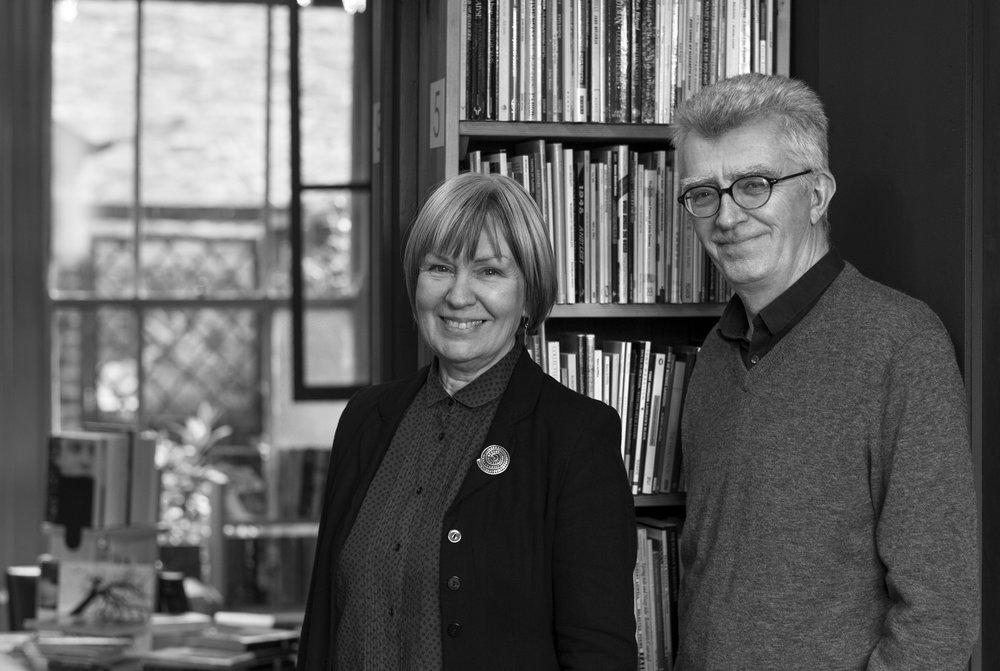 Diane Bailey & Geoff Young of ffotogaleri y gofeb. © Brian Carroll