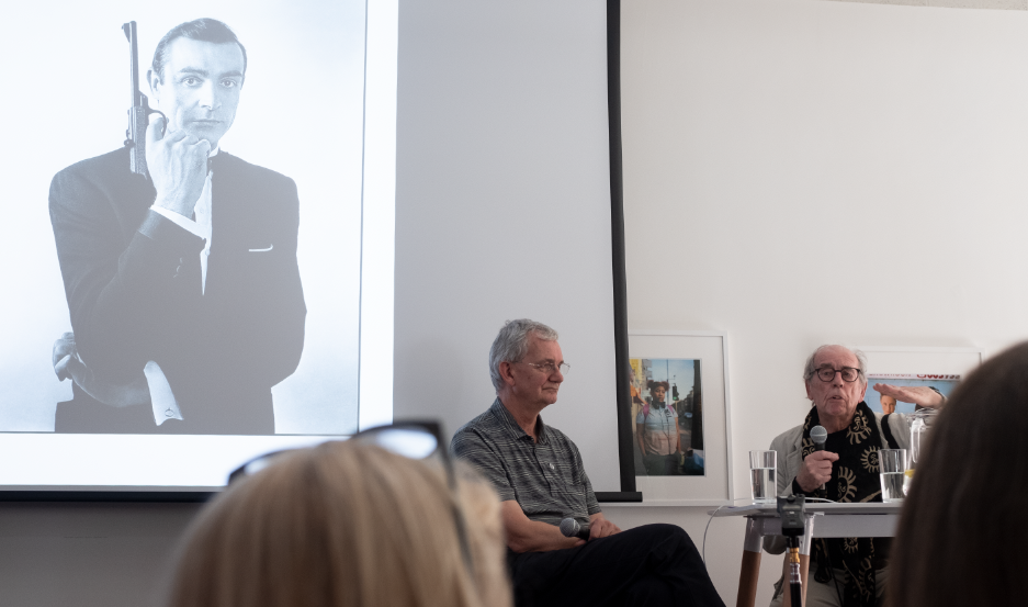 David Hurn in conversation with Martin Parr in the final session. Hurn had the audience entranced (and often in stitched with laughter) with his anecdotes, views and trademark frankness. © Brian Carroll