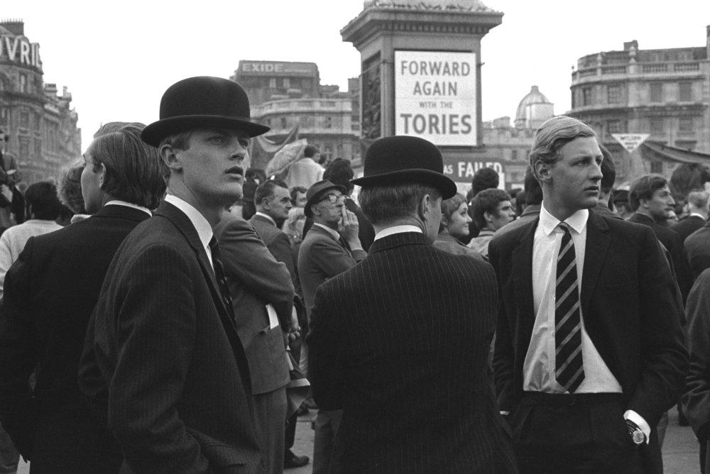 Trafalgar Square, London. 1969