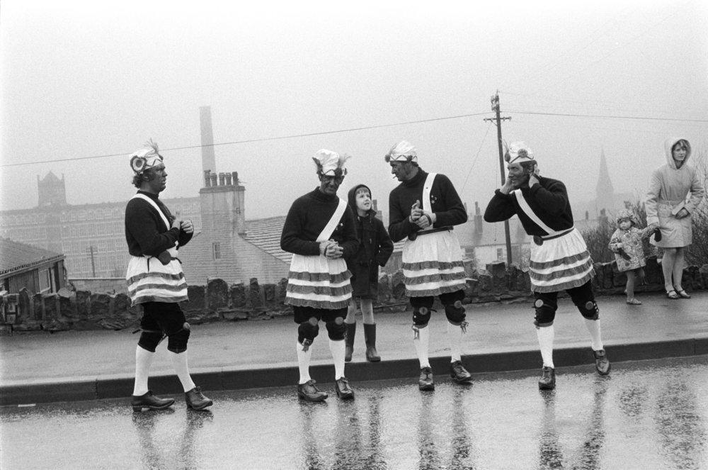 Britannia Coconut Dancers. Bacup, Lancashire. 1972