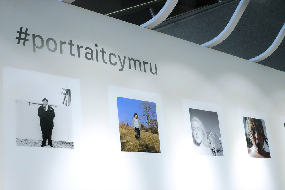 The #portraitcymru exhibition in Aberystwyth as part of The 2018 EYE International Photography Festival