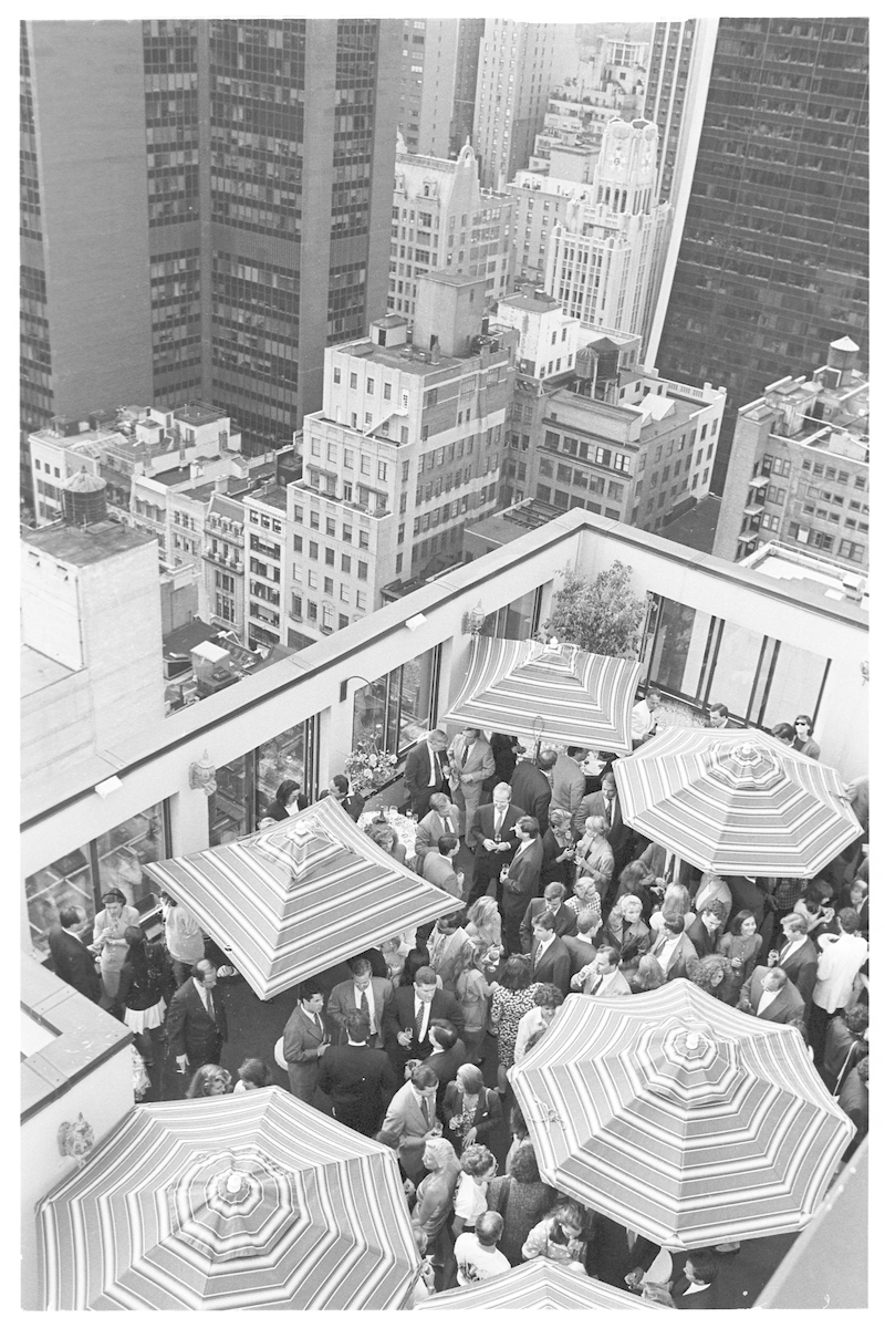 Kips bay Boys and Girls Club Benefit party on roof, 1992