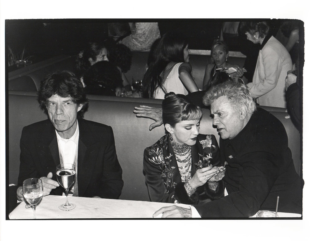 Mick Jagger, Madonna & Tony Curtis at the Vanity Fair Oscar Night Party