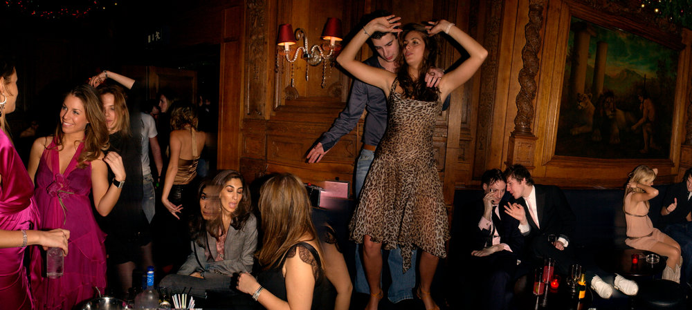 Saskia Boxford dancing. For Tatler magazine