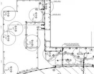 Irrigation Drawing - Flow Paths and Coverage Area Diagram