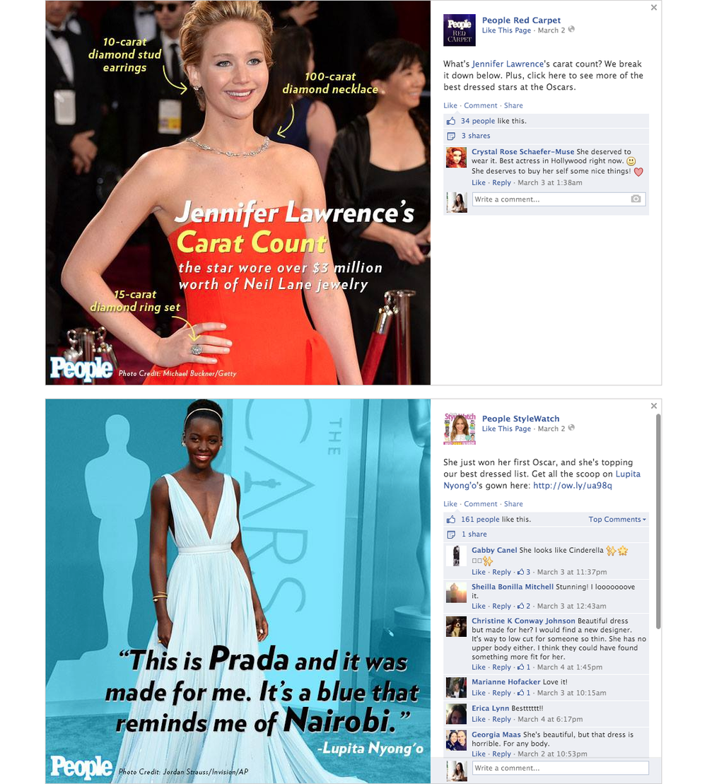 People - Social Media   PROJECT   Oscars Night Social Media   WORK  Visual Design   DESCRIPTION  Designed and formatted images with text for Facebook, Instagram, and Twitter on the night of the Oscars.