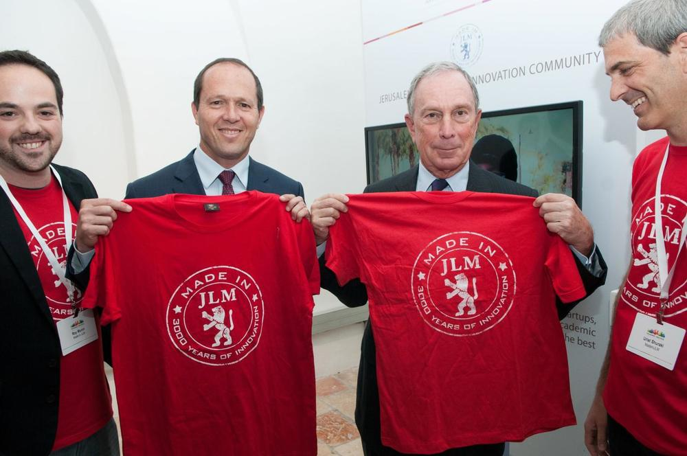 Nir Barkat, Mayor of Jerusalem (Left) with Michael Bloomberg, Legendary Mayor of New York (Right)