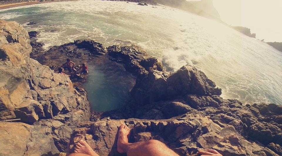 Buraco do Galeco, localizado na Praia do Cachorro