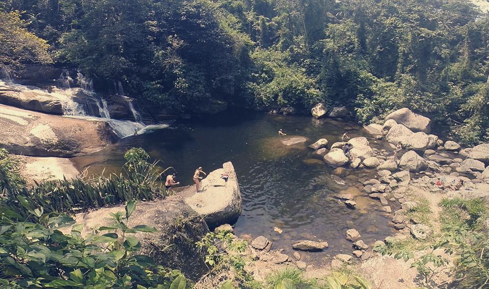 Cachoeira da Pedra Branca, dentro do Parque Nacional da Serra da Bocaína