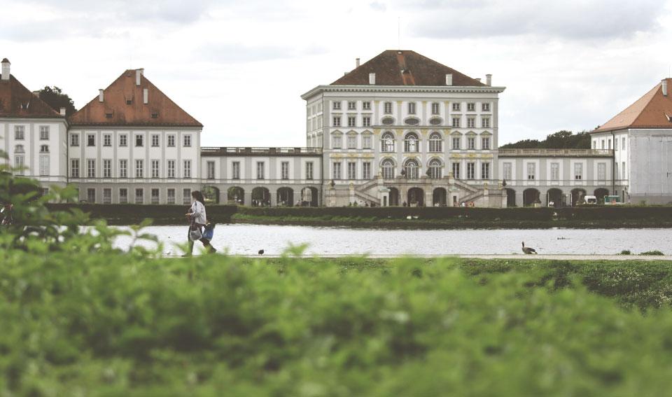 Fachada do Schloss Nymphenburg.