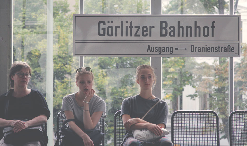Estação de metro Görlitzer Bahnhof, em Kreuzberg. Nosso apartamento ficava há 3 quadras daqui.