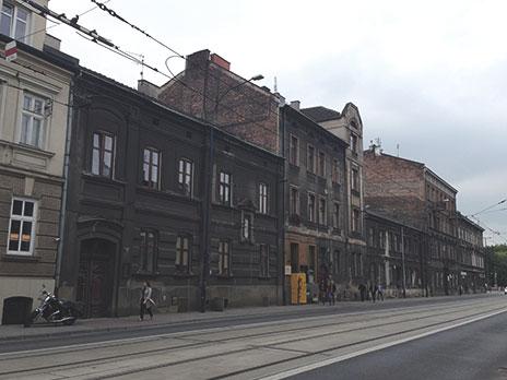Distrito de Podgórze, região onde era o Gueto Judaico criado para abrigar a população de judeus marginalizados pelos nazistas.