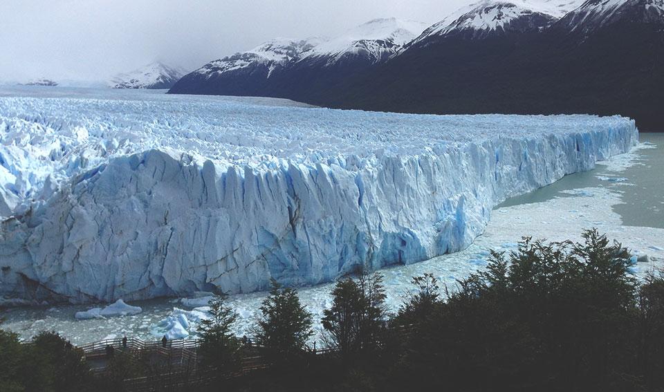 Mirante para o Glaciar Perito Moreno.
