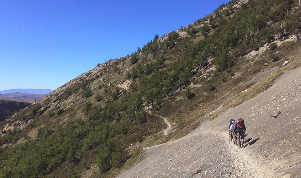 Trecho da trilha para a Base de las Torres.