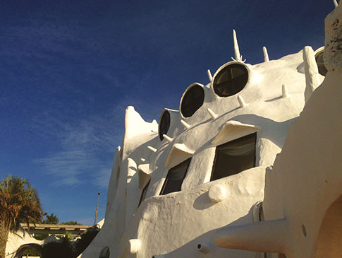 Detalhe da arquitetura da Casapueblo