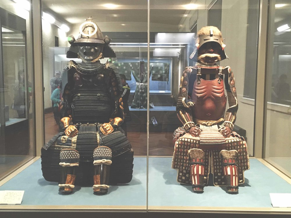 Armaduras antigas de samurais