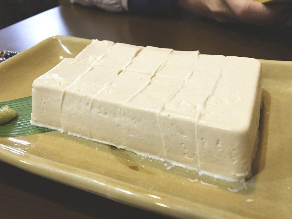 Yuba, nata que fica sobre o tofu quando cozido.