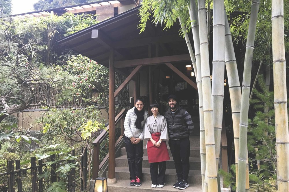 Cho, a funcionária do ryokan que nos atendeu durante toda a nossa estadia.