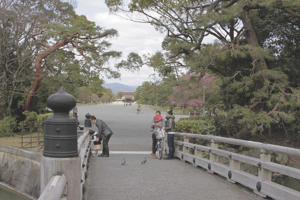 Ponte próxima a uma das saídas do jardim do palácio.