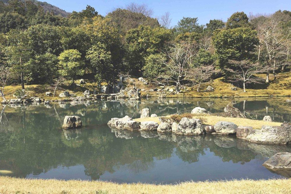 Jardim do templo Tenryu-Ji.