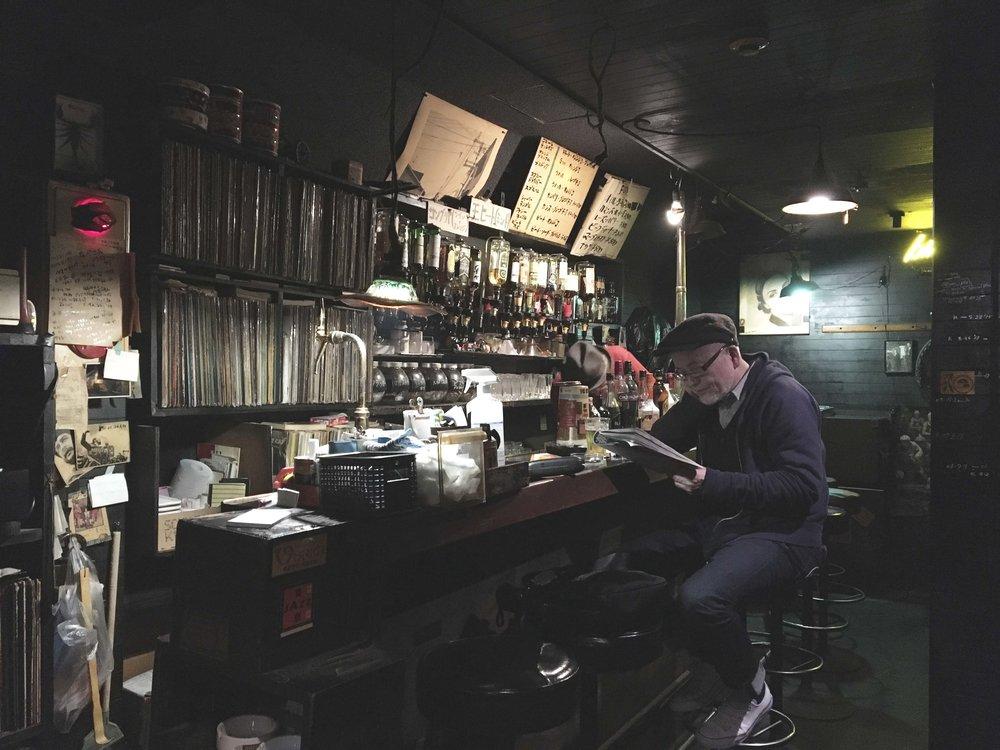 Balcão do bar de jazz Bird/56.