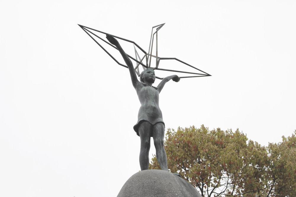 Monumento das Crianças à Paz, construído em homenagem às crianças mortas pela bomba.