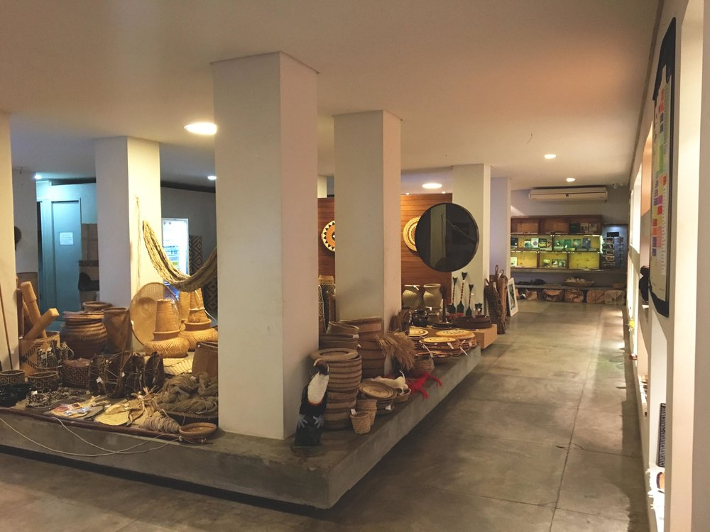 Uma das salas da Galeria Amazônica.