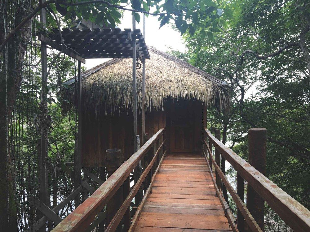 O bangalô que ficamos hospedados no Juma Lodge.