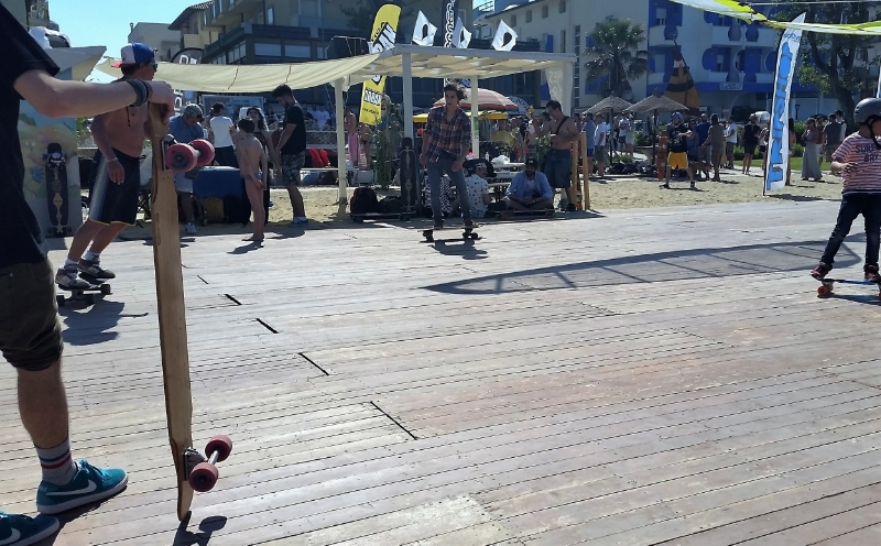 The perfect stage for the longboard dancing contest