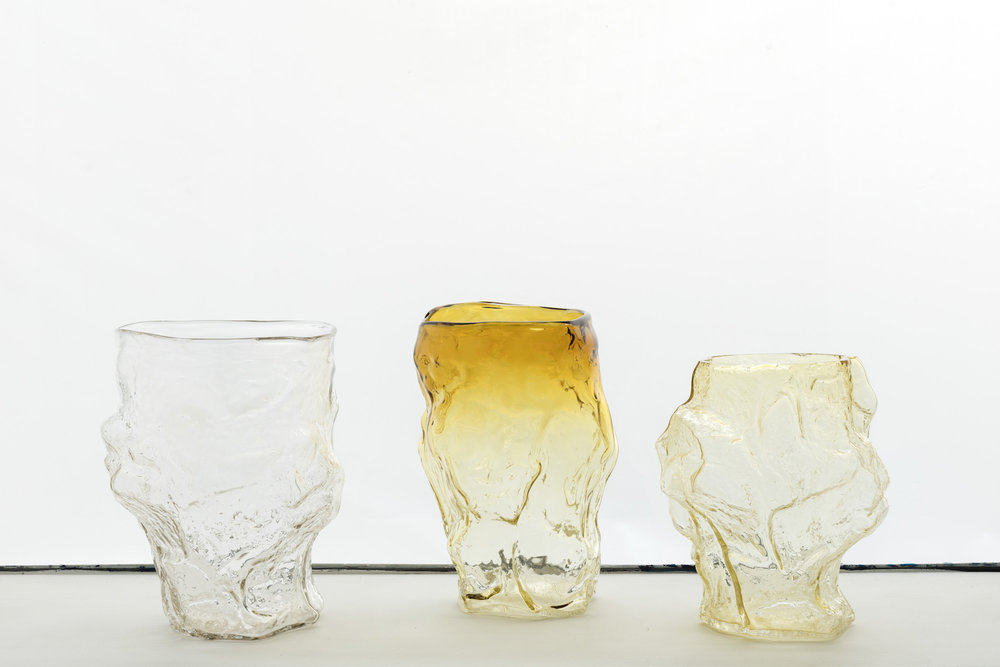 Glass Vase - Glass Each Unique, ≃ 38 x 33 x 33 cm2017Edition of 12 Price upon request