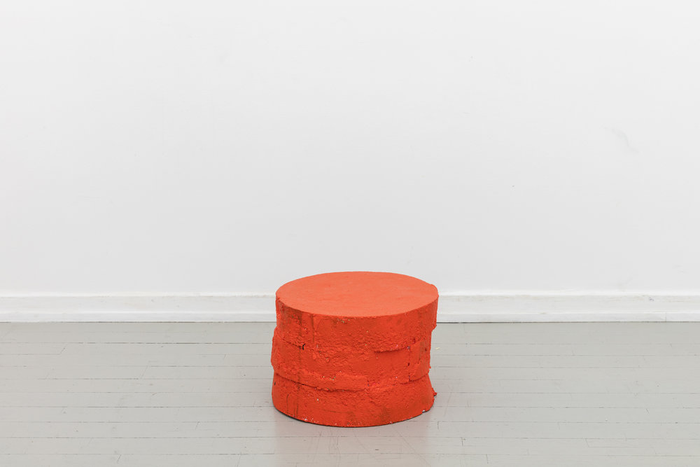 Soft Orange Table  - 2017Polystyrene, paint, foam⌀ 45 cm, H: 30 cm Price on request