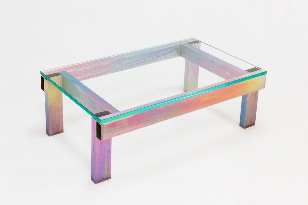 Anodised Aluminium Table  - Fredrik Paulsen Anodized Aluminium, Glass2017100 x 60 x 34 cmEdition of 20  Price on request