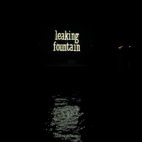 Leakıng fountaın by fos - Installation in the Copenhagen HarbourIn Collaboration with Pool Temporary