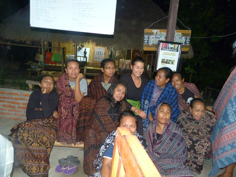 With the lovely weavers in Flores, Indonesia