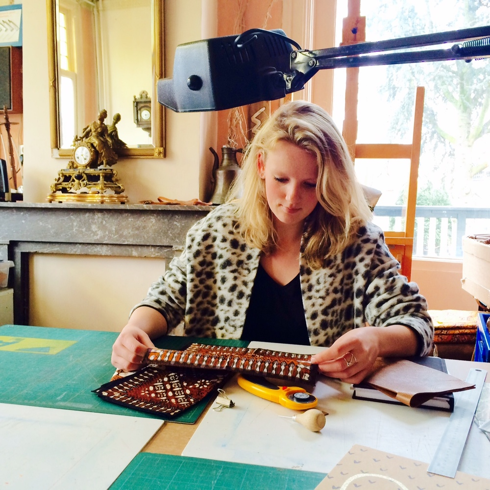 Annemei Kalden working on LARAS X Bag to the future
